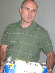 Scott Bernier with FEMA water